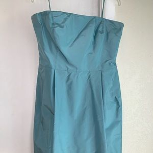 Ann Taylor Strapless turquoise Dress